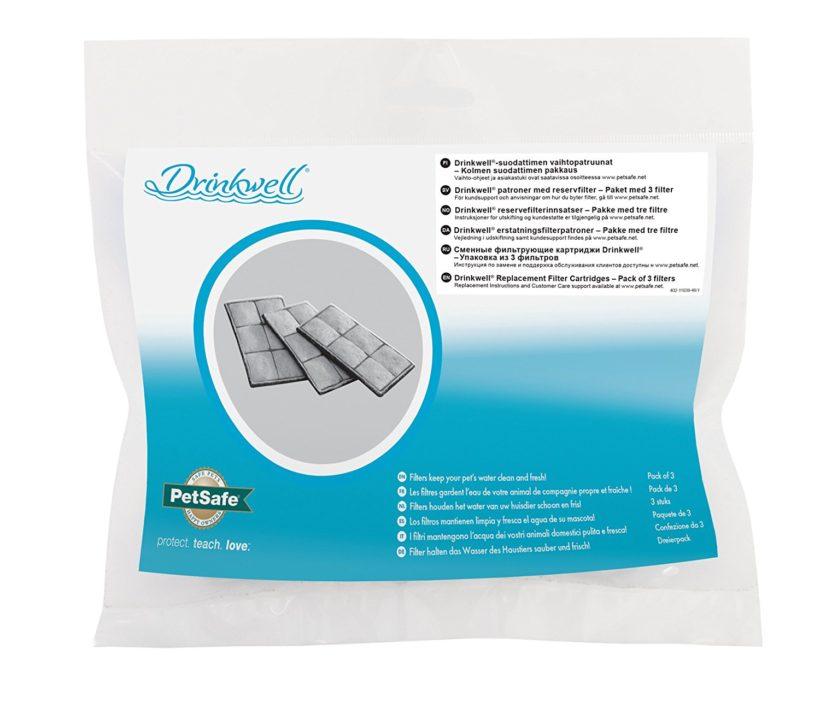 PetSafe - Cartouches Filtrantes de Rechange Drinkwell pour Fontaine à Eau (Lot de 3)